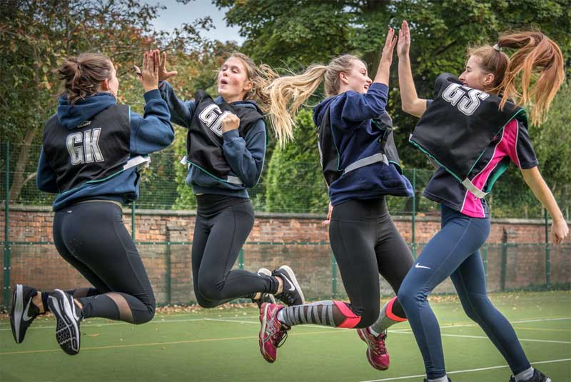 Image of Westfield School Girls celebrating